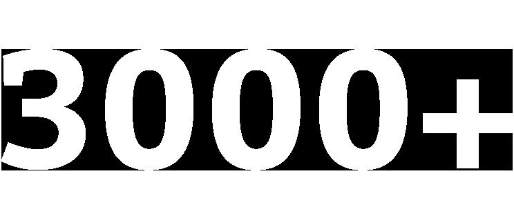 3000+